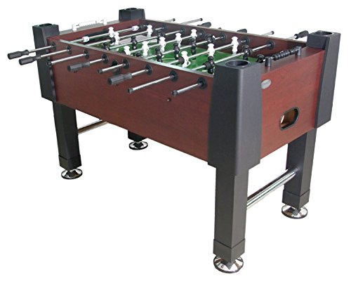 The Player Foosball Table in Mahogany with both 1 & 3 man Goalie (Foosball Table Mahogany)
