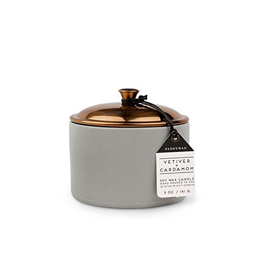 Paddywax Hygge Collection Scented Soy Wax Candle, 5-Ounce, Vetiver & Cardamom Cardamom Candle