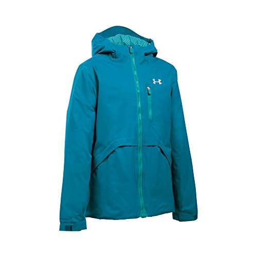 Under Armour Girl's ColdGear Reactor Yonders Jacket, Teal Blast/Pacific, Youth Medium by Under Armour