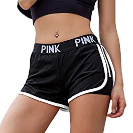 PeaceCake Women Running Shorts 2-in-1 Double Layer Elastic Waistband Sport Shorts No-Chafing Quick Drying Breathable Workout Fitness Active Yoga Jogging Shorts
