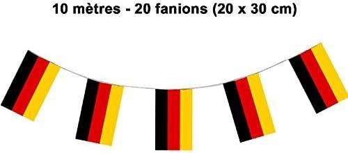 Guirlande Allemagne 10 m/ètres PVC Mondial-fete 20 fanions 20 x 30