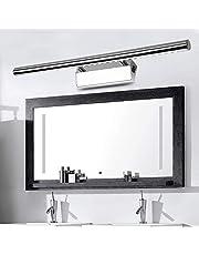 Led-spiegellamp met schakelaar, 7 W/55 cm, neutraal wit (4500 K), 490 lm, vervangt 20 W TL-buis, badkamerlamp, kastlamp, wandlamp, spiegellamp met aardingsdraad, 3 jaar garantie