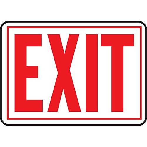 """Hyko Products Co 20408499 Exit 10"""" X 14"""" - Aluminum"""