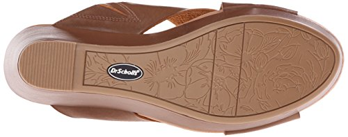 Dr. Scholls Womens Mixit Wig Sandaal Donker Zadel