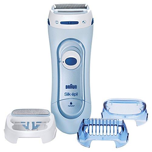 Braun Silk-épil LS5160 Lady Shaver (elektrischer Damenrasierer trocken und nass einsetzbar (Wet und Dry)) blau