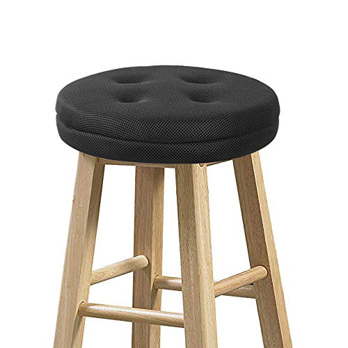 baibu Bar Stool Cushions, Super Breathable Round Bar Stool Covers Seat Cushion Round with Elastic Black 13