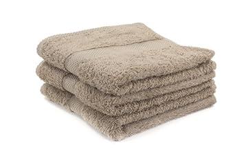 Terri Towelling Toallas de algodón Egipcio para salón de peluquería, 500 g, 50 x 85 cm, 12 Unidades, Color Beige: Amazon.es: Hogar
