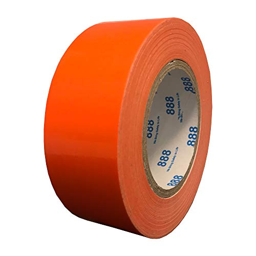 MG888 Hi-Vis Fluorescent Orange Duct Tape 1.88 Inches x 60 Yards, High Visibility, Duct Tape for Crafts, DIY, Repairs, Indoor Outdoor Use, Book Repair, Must Have Garage Tool]()