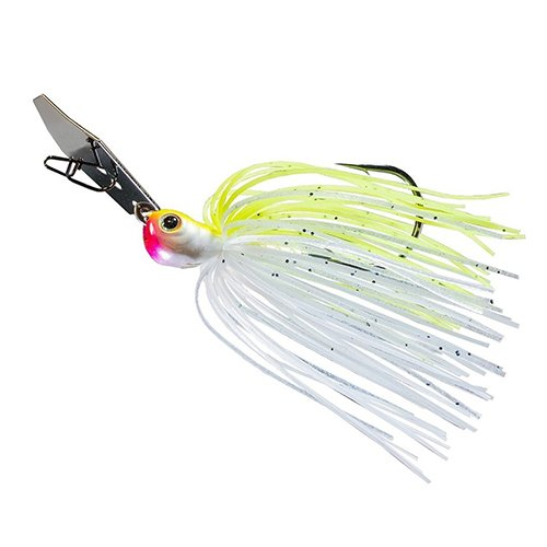 Z-man CBJH38-02 Chatterbait Jack Hammer Lure, 5/0 Hook Size, 3/8 oz, Chartreuse/White, Package of 1