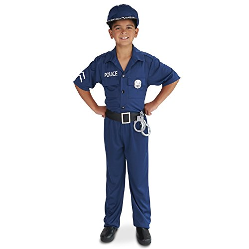 [Police Officer Child Costume S (4-6)] (Policeman Boys Costume)