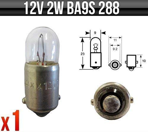 Indicator /& Panel Bulbs P288 x 1 Instrument Speedo 12v 2w BA9S Dashboard