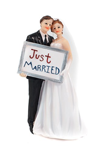 Amazing Fancy Dress Ideas (WEDDING SENTIMENTALS - Just Married Wedding Cake Topper)