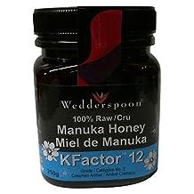 Wedderspoon Raw Organic Manuka Honey Active 12+, 8.8-Ounce Jar, 250 Grams