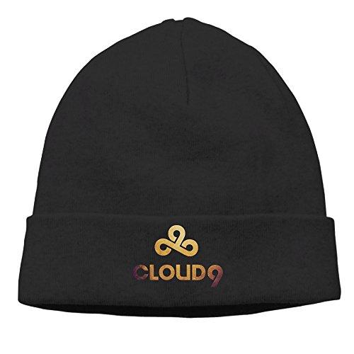Price comparison product image OPUY Unisex Cloud 9 Logo Beanie Cap Hat Ski Hat Cap Skull Cap Black