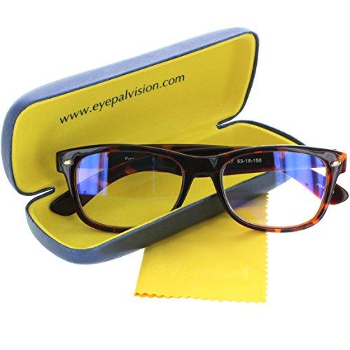 Video Gamer Glasses - Anti UV and Blue Light Blocking Digital Eye Strain Prevention Full Rim Lenses for Gaming and Computer Use (Tortoise Shell, 53-18-150mm - Shell Glasses Large Tortoise
