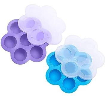 Pack de 2 moldes de silicona para huevos de bebé, para accesorios instantáneos de maceta
