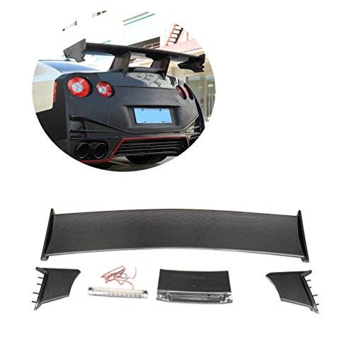 Gtr Spoiler (JCSPORTLINE Carbon Fiber Rear Trunk Spoiler for Nissan R35 GT-R GTR 2009-2015 (Fits: GTR))