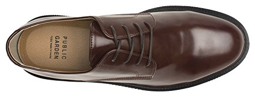 Agos Mens Scarpe Stringate Casual Oxford Marron + 1,5 Pollici Tacco