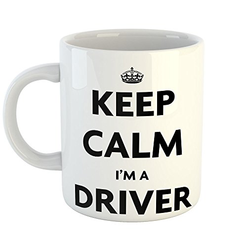 Westlake Art - Keep Calm Im A Driver - 11oz Coffee Cup Mug - Sayings Artwork Home Office Birthday Christmas Gift - 11 Ounce (3D1B-15C1D)