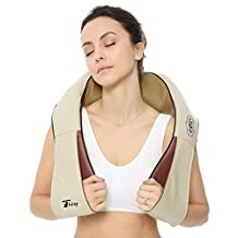 Thinp Neck and Shoulder Massager Kneading Shiatsu Neck Massage & Back Massager Adjustable Intensity with Heat and Timing Function, for Home, Office and Car Use …