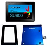 ADATA SU800 128GB 3D-NAND 2.5 Inch SATA III High Speed Internal SSD with 2.5/3.5 inch Bracket and Laptop Spacer Bundle (ASU800SS-128GT-C-TRAYSP)
