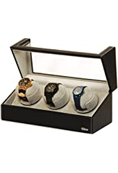 Triple Watch Winder With Japanese Mabuchi Motor, 750, 1000, 1500 and 1800 TPD.