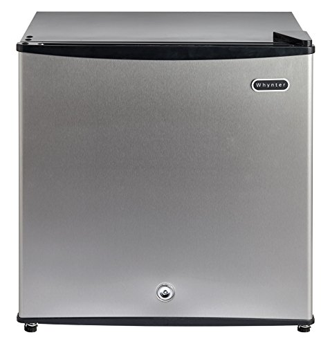Whynter CUF-112SS 1.1 cu. ft. Energy Star Upright Lock-Stainless Steel Freezer, Cubic Feet - Freestanding Top Freezer Freezer
