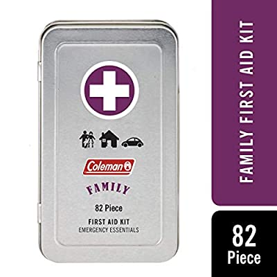 Coleman 82 Piece Family First Aid Kit - for camping, travel or sports bag by Coleman Repellents