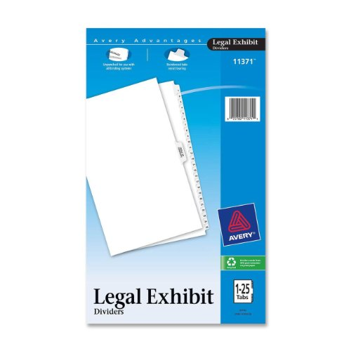 Avery Legal Index Dividers, Legal Size, Side Tabs, 1-25 and Table of Contents, 1 Set (11371) ()