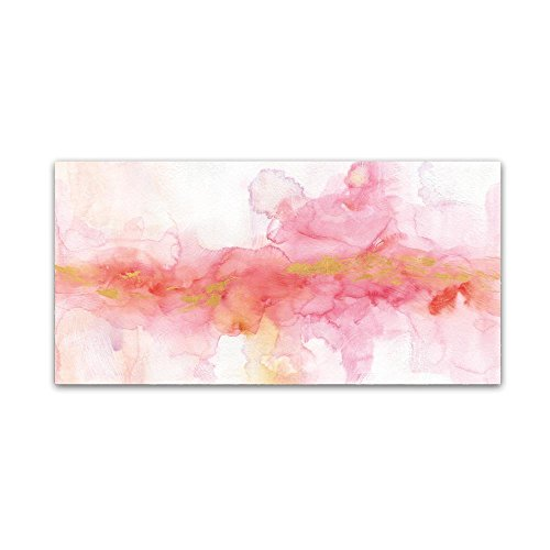 Rainbow Seeds Abstract Gold Ornate Frame by Lisa Audit, 24x47-Inch Canvas Wall ()