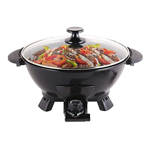 YIZAO Electric Skillet, Electric Pan, Electric Hot Pot, Cast Aluminum Pot Body with Non-stick Surface Dia 11.8inch Depth 3.9inch