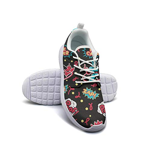 Women's Athleisure Sneakers Funny Cancer Survivor Ultra Lightweight Breathable Mesh Christmas Fashion Shoes