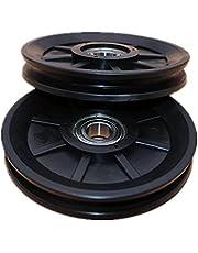 2 Stukken Gym Katrolwiel, Slijtvast Katrol Wiel Zwart, voor Kabel Machine Fitnessapparatuur Reserveonderdeel, Oefening Krachttraining Accessoire, Diy Attachment