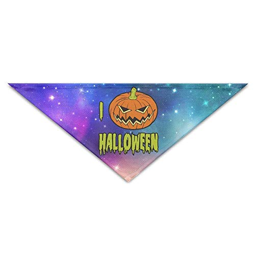 DKFDS I Love Halloween Baby Pet Dog Scarves Puppy Triangle Bandana Bibs Triangle Head Scarfs Accessories