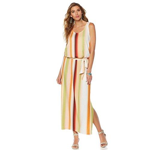 Curations 547 Caravan Blouson 324 Maxi Dress Stripe Printed qZOBxqfT