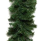 Vickerman 50' x 10'' Canadian Garland with 200 Clear lights