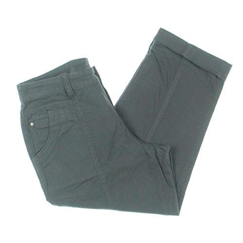 Style & Co. Womens Twill Cuffed Capri Pants Gray - Twill Capri Cuffed