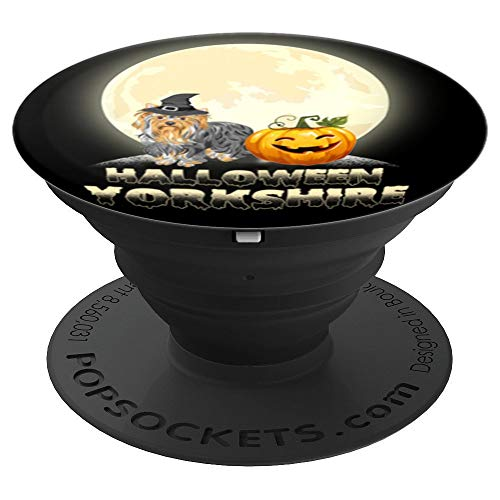 Halloween Yorkshire Terrier Dog Lover Pumpkin - PopSockets Grip and Stand for Phones and Tablets