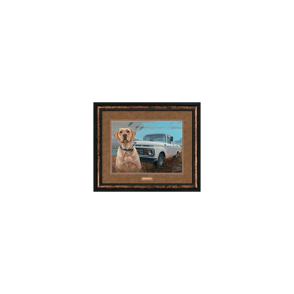 Old Reliable Yellow Lab Vintage Ford Pickup Truck Larry Beckstein Premium Framed Print Open Edition