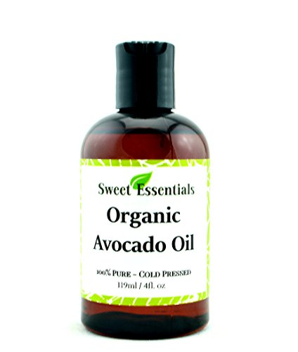 100% Pure Organic Cold-Pressed Avocado Oil - 4oz - Imported From Italy - NON-GMO/ Golden In Color