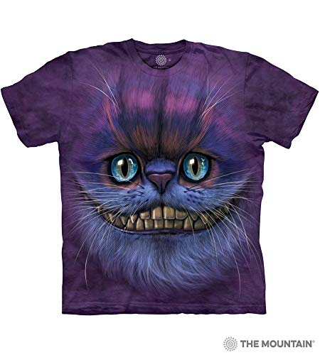 (The Mountain Bf Cheshire Cat Adult T-Shirt, Purple,)