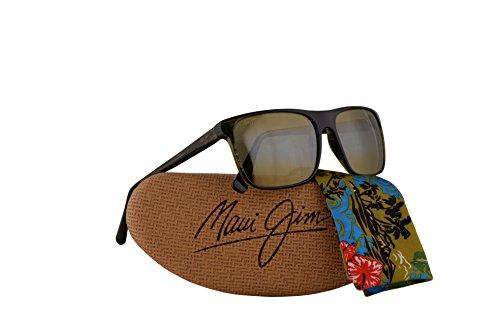 Maui Jim Flat Island Sunglasses Olive Stripe w/Polarized Maui HT Lens - Jim Maui Island