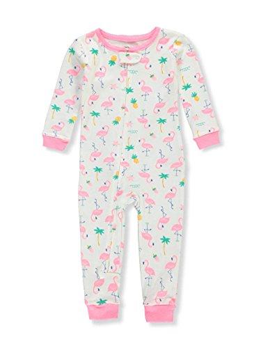 Carter's Baby Girls' 1-Piece Snug Fit Cotton Footless Pajamas (Flamingos, 18 Months)