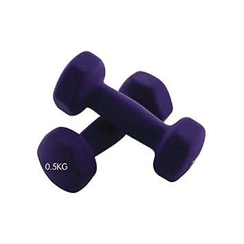 Sunnyshinee Mancuernas de fitness para mujer, antideslizantes, color morado: Amazon.es: Jardín