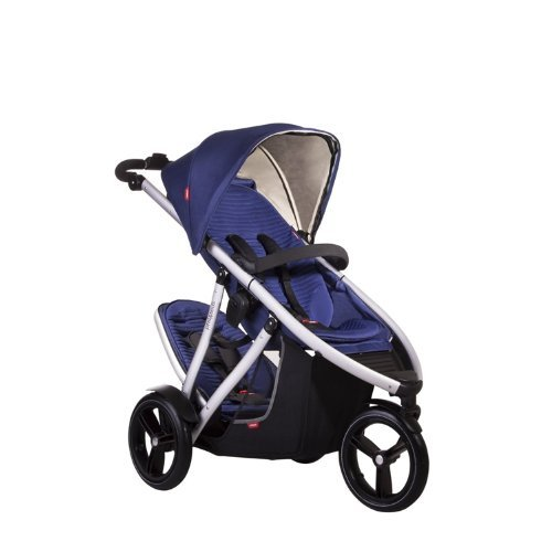 Phil and Teds Vibe V3 Stroller With Doubles Kit (Cobalt) by phil&teds