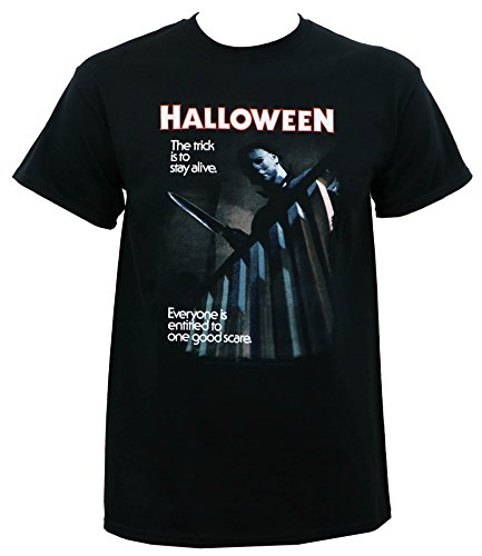Halloween One Good Scare Adult T-Shirt in Black,