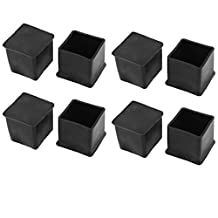 uxcell® 8Pcs 30mmx30mm Square Rubber Furniture Foot Cover Pad Floor Protector