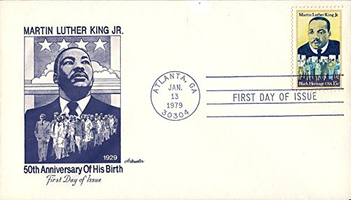 Martin Luther King Stamp (FDC Martin Luther King Jr. January 13,1979 US Postage Stamp 15 Cents)