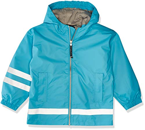 Charles River Apparel Kids' Little New Englander Rain Jacket, Wave/Reflective, 7