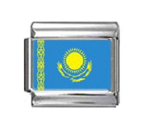 Italian 9 Mm Photo - Stylysh Charms Kazakhstan Kazakh Flag Photo Italian 9mm Link PC091